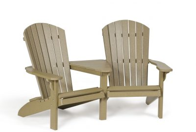 fanback settee poly furniture for cabins