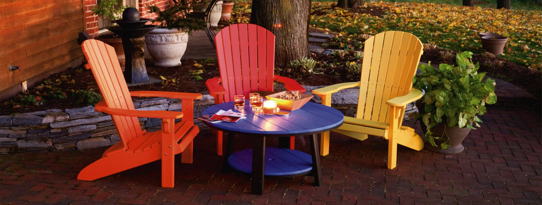 poly furniture relax around the table cabin outdoor furniture