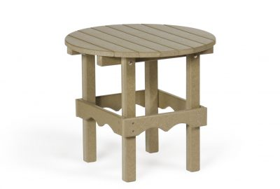 round side table poly furniture for cabins