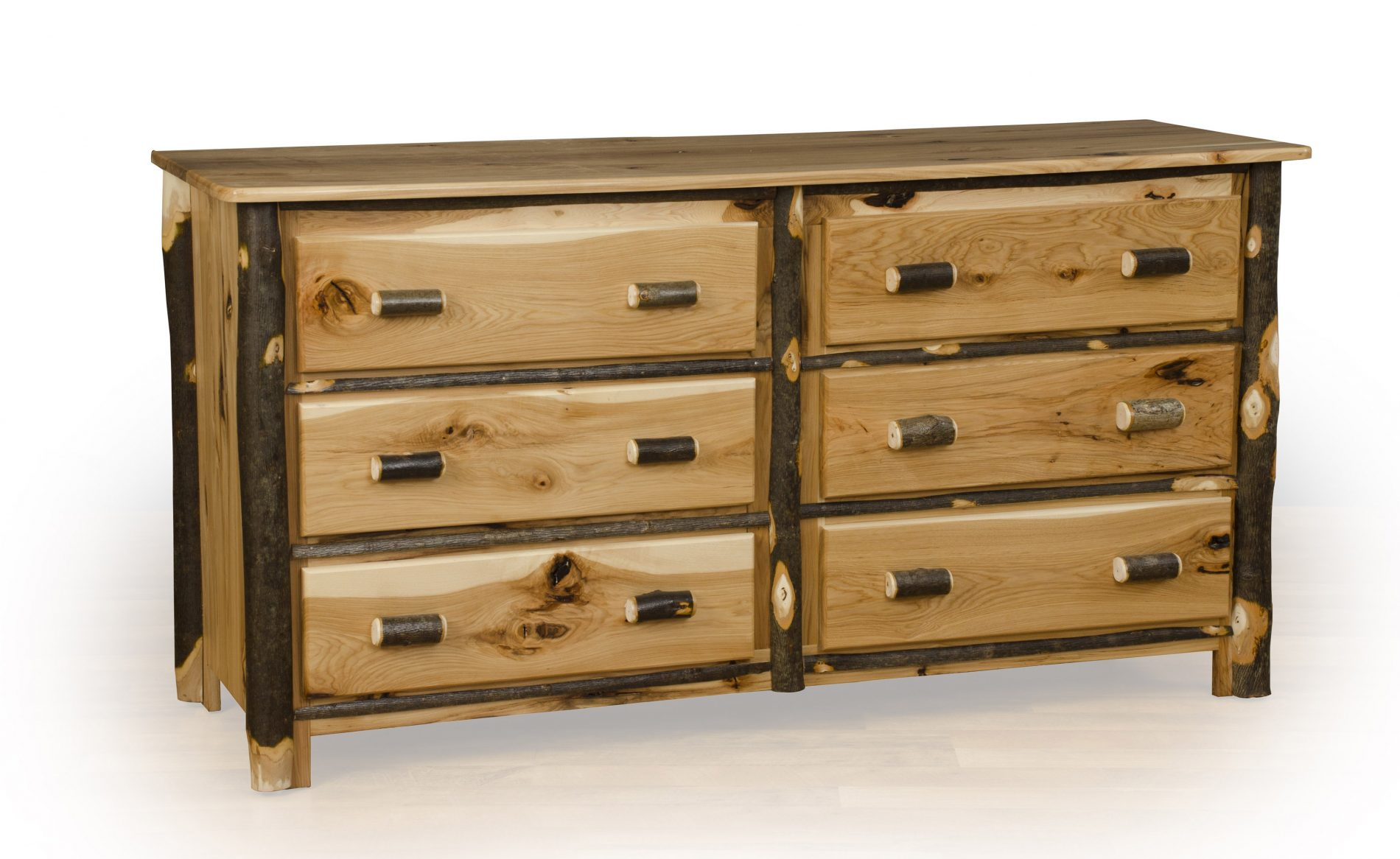 Wood Table Dresser ~ Hickory bedroom furniture rustic wood