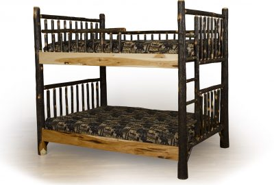 bunk beds cabin hickory wood bedroom furniture