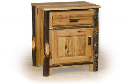 closed night stand log cabin bedroom set