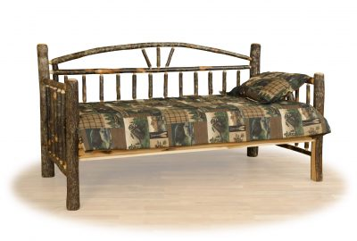 day bed cabin hickory wood bedroom furniture