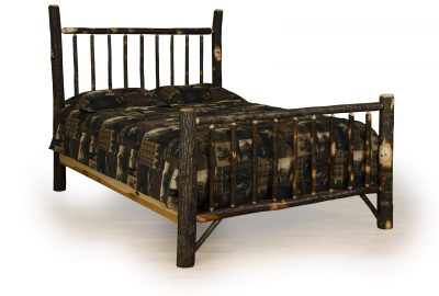 mission bed cabin hickory wood bedroom furniture