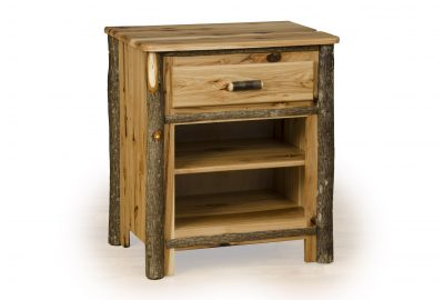night stand with shelf log cabin bedroom set