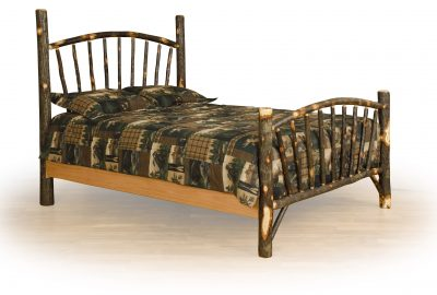 sunburst bed cabin hickory wood bedroom furniture