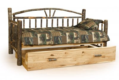 trundle bed cabin hickory wood bedroom furniture