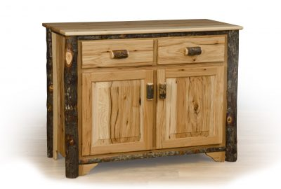 2 door buffet log home furnishings