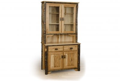 2 door hutch log home furnishings