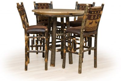36 inch pub table log home dining rooms