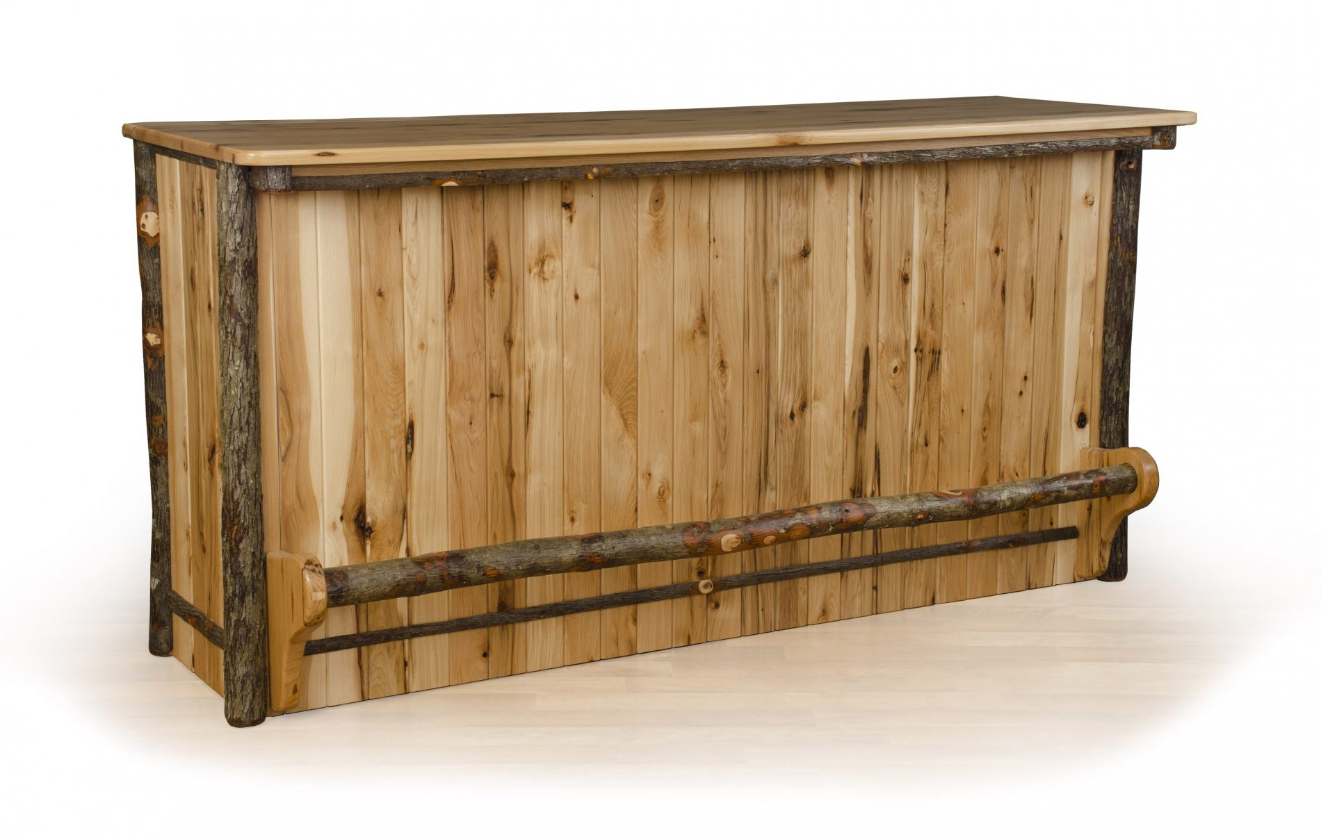 Hickory dining room furniture rustic dining furniture zook cabins bar counter log home dining rooms dzzzfo