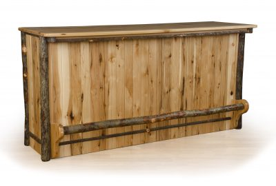 bar counter log home dining rooms