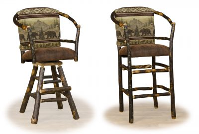 hoop style padded bar stool log home furnishings
