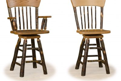 oak back bar stool log home furnishings