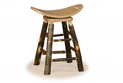saddle stool with swivel log cabin dining room furniture