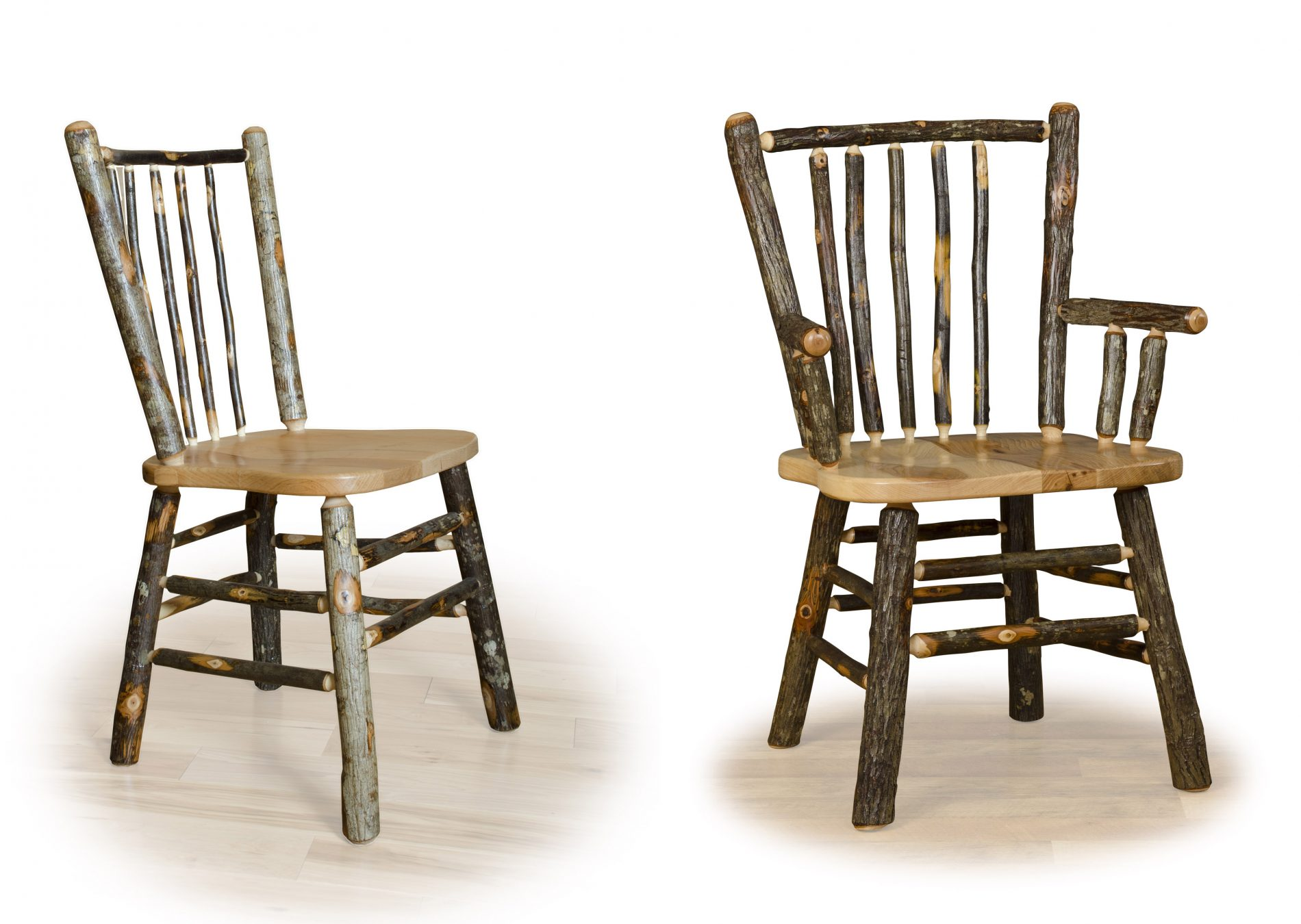 Hickory dining room furniture rustic dining furniture zook cabins stick back chair log home dining rooms dzzzfo