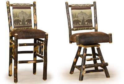 straight back padded bar stool log home furnishings