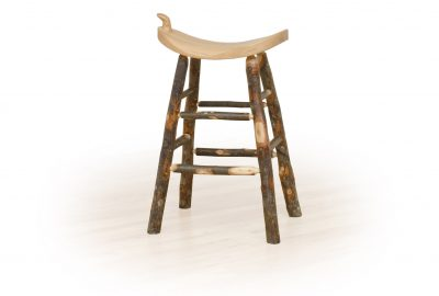 western saddle stool log cabin dining room furniture