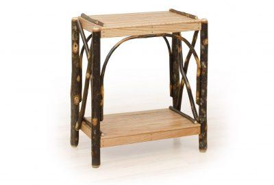 2 tier end table log home living room