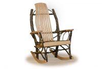 9 slat hickory rocker log home living rooms
