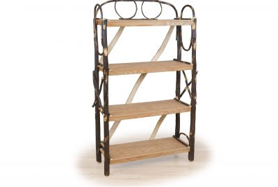 bend wood bookshelf furniture for log homes