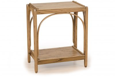 bent oak 2 tier end table log home living room