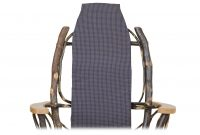 blue plaid chair cover cabin furnishings
