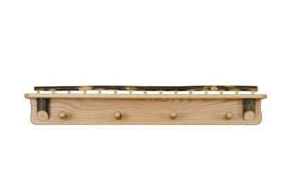 coat rack with shelf furniture for log homes