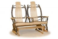 double glider with center arm log cabin furnishings