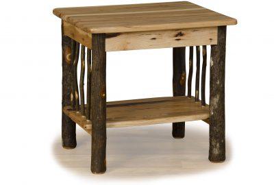end table log home living room