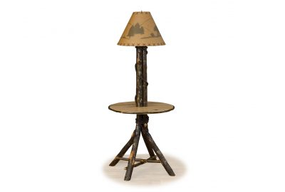 floor lamp with table furniture for log cabins