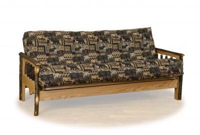 futon log cabin living room furniture