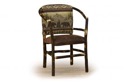 hoop chair log cabin living room furniture