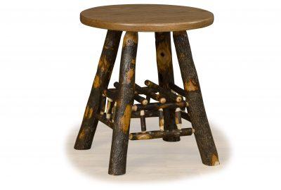 lamp table log home living room