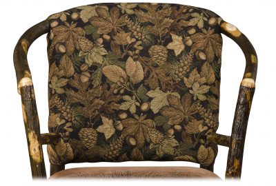 leafy fabric cabin furnishings