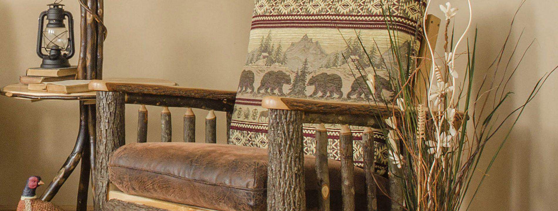log cabin living room furniture