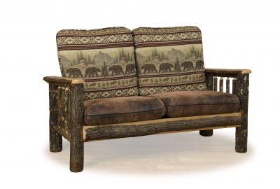 love seat log cabin living room furniture