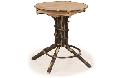 pedestal end table log home living room