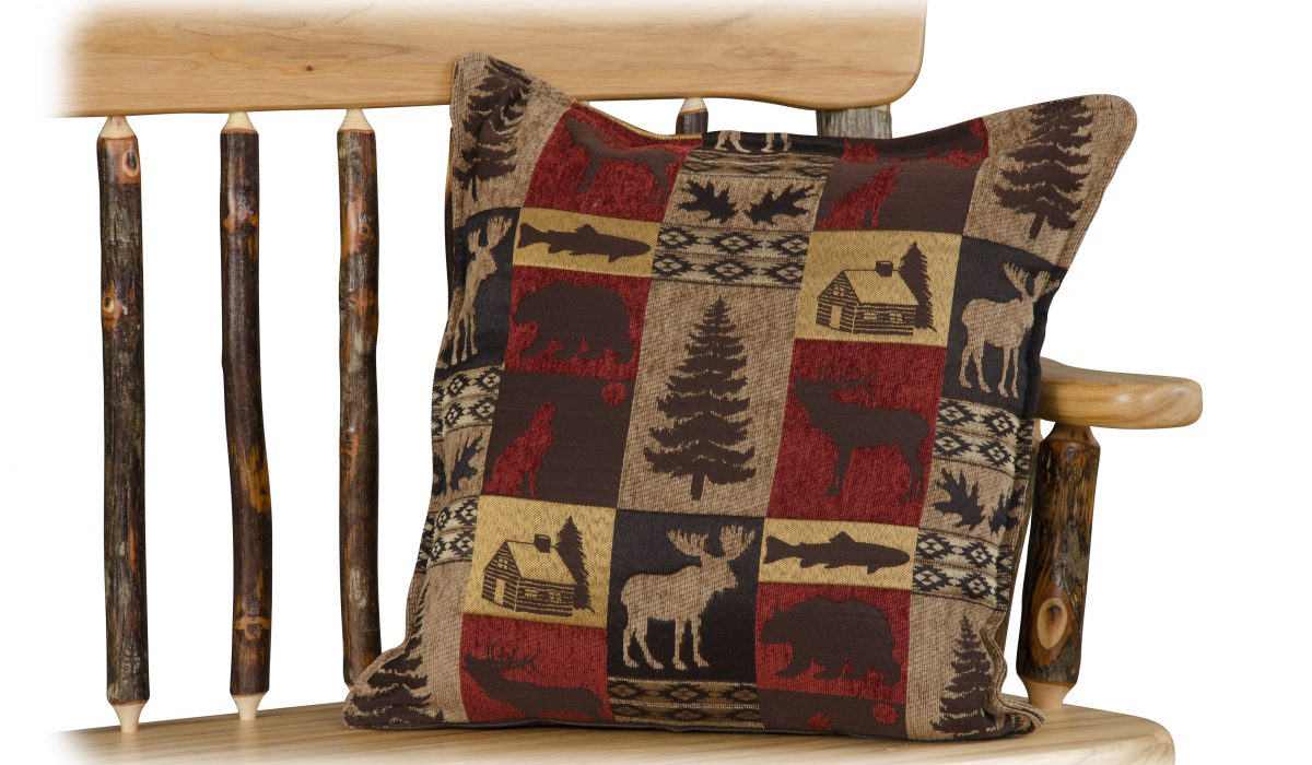 pillows furniture for log homes