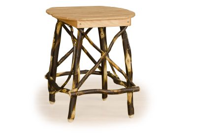 rounded square end table log home living room