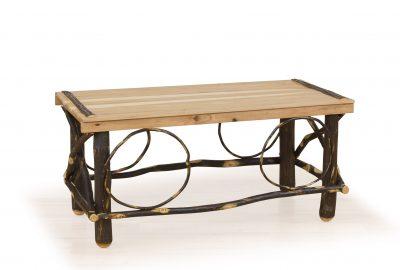 slat top coffee table log cabin furniture