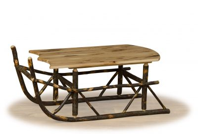 sleigh coffee table log cabin furniture