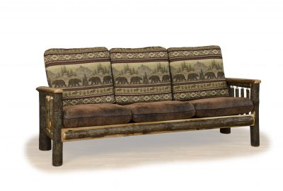 sofa log cabin living room furniture