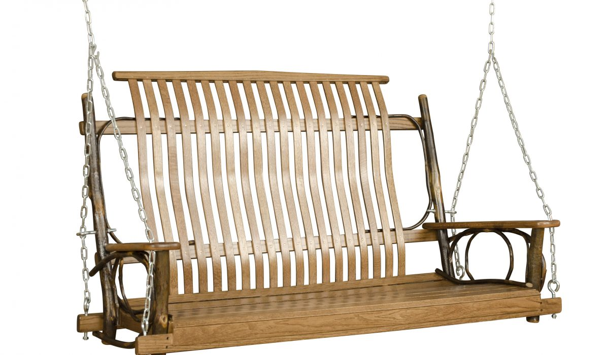 swing furniture for log homes