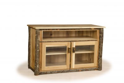 tv stand with glass doors log cabin furniture