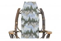 wolves chair cover cabin furnishings