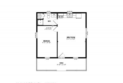 28ln901 lincoln lake cabin plans