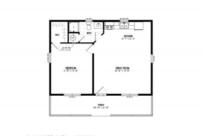 28ln902 lincoln lake cabin plans