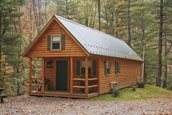 adirondack style cabin in the woods for wyoming