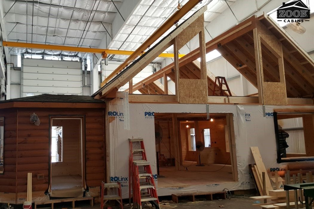 modular cabin built inside vs log cabin kits